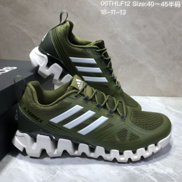 AUGUAU A472 Adidas Terrex High Frequency Breathable TPU Vamp Running Shoes Green