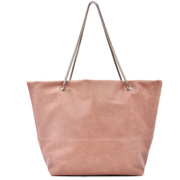 Magdalena East West Tote Rose w/ Silver