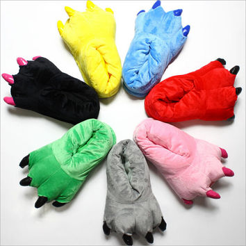 10 Color Candy Color Funny Animal Paw Slippers Cute