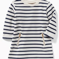 French-Terry Zip-Pocket Dress for Baby|old-navy