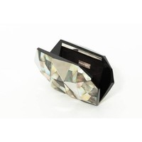 Pearly stainless steel and shell clutch bag | Susanna Valerio