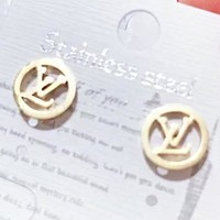 LV Louis Vuitton New fashion letter round circle earring women