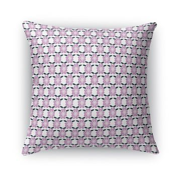 FACE FORWARD BOHO FLOWER Accent Pillow By Heidi Miller