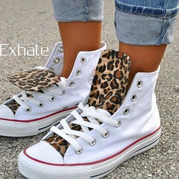 A Cheetah Made Me - Cheetah Print converse