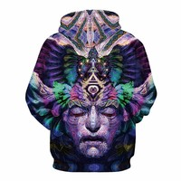 The God Head Hoodie - Unisex Trippy Sweatshirts
