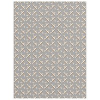 Striped fleur de lis pattern fleece blanket