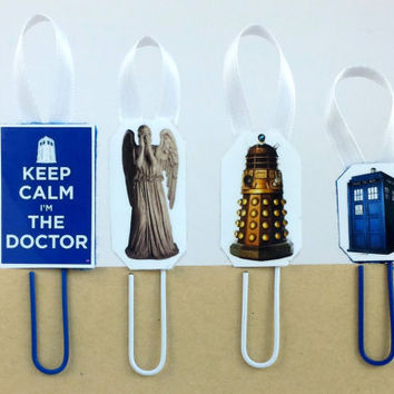 Dr Who Bookmark - Dalek Bookmark - Doctor Who - Weeping Angel - Tardis Bookmark - Dr Who Accessories - Dr Who - Police Call Box - The Doctor