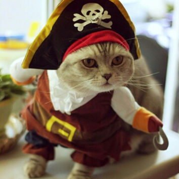 Funny Pirate Pet Cat Suit