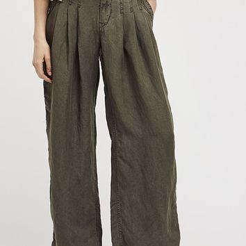 Orion Slouchy Trouser - Moss by Free People