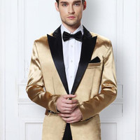 Black Gold Fashionable Tuxedo Jacket