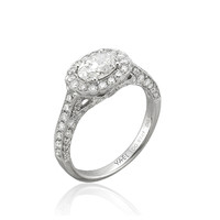 Yael Designs - Style 04701 White Gold Oval-Cut Diamond Engagement Ring |