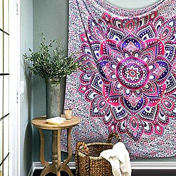 Lotus Flower Boho Moroccan Wall Hanging Tapestry
