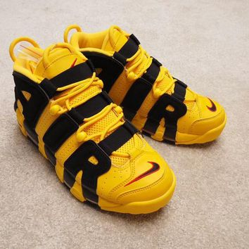 DCCK2 N293 Nike Air More Uptempo Black AIR Sports Shoes Yellow Black