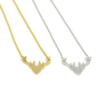 Dainty Antler Necklace » West Of Camden