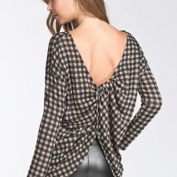 Checkered Top - Black