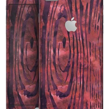 Red Watercolor Woodgrain - Skin-kit for the iPhone 8 or 8 Plus