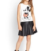 FOREVER 21 GIRLS Mickey Muscle Tee (Kids) Cream/Black