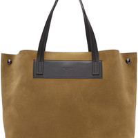 Brown Suede Compass Everyday Tote