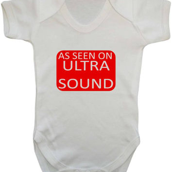 As Seen On Ultrasound (As Seen On TV Parody) Baby Onesuit