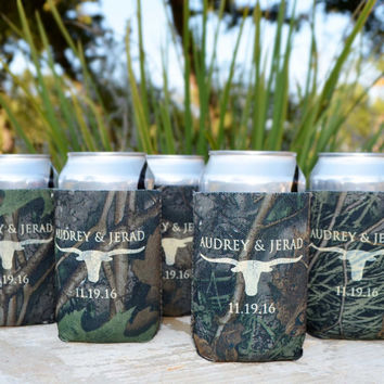 25 Personalized True Life Camo Koozies - Foam