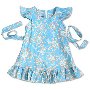 Lanikai Tan Hawaiian Girl Cotton Dress