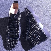 Cl Christian Louboutin Louis Spikes Style #1869 Sneakers Fashion Shoes - Best Deal Online