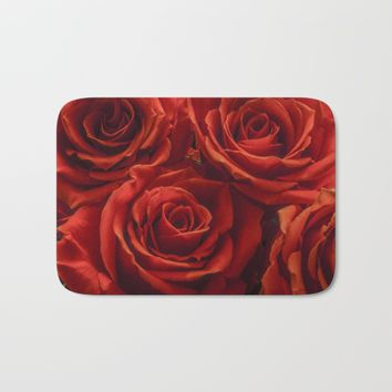 Velvet Rose Bath Mat by Scott Hervieux