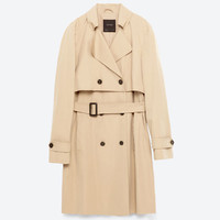SHORT TRENCH COAT DETAILS