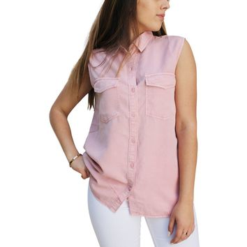 TP243 Sleeveless Button Down Shirt (More color options)