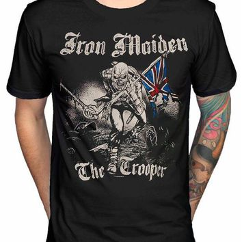 PEAPFS2 Vintage Tee Shirts Very Cute Iron Maiden Sketched Trooper T Shirt Brave New World Fear Of The Dark Design T Shirt Fashion Tees