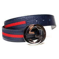 Gucci Belt 105 - Calfskin Striped