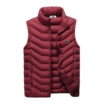 Boys & Men Lacoste Fashion Down Vest Cardigan Jacket Coat