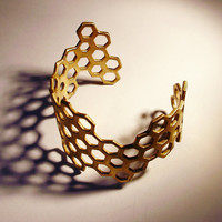Hive Cuff (Brass or Sterling Silver)