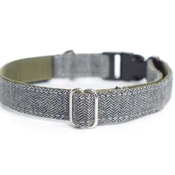 Dog Collar - Chevron Tweed