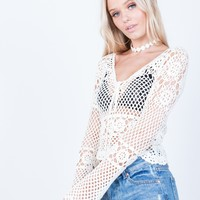Crochet Netted Top