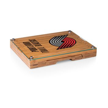 Portland Trailblazers - 'Concerto' Glass Top Cheese Board & Tools Set by Picnic Time