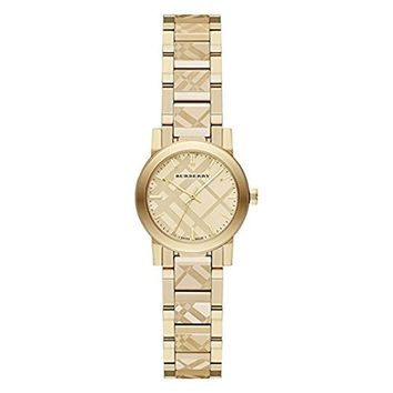 Burberry Women's Swiss Gold Ion-Plated Stainless Steel Bracelet Watch 26mm BU9234