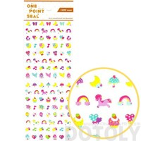 Rainbow Pony Stars Cake Shaped Animal Sticker Seals for Scrapbooking and Decorating