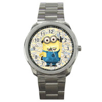 Despicable Me Minions Cartoon Sport Watches Bee-Do Bee-Do