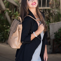 Too Cool For School Medium Backpack in Tanned Envy