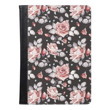 Vintage Pink Floral Pattern Apple iPad Air Case