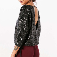 Silence + Noise Donna Sequin Boat-Neck Top - Urban Outfitters