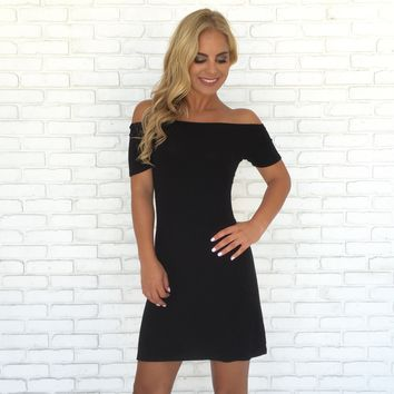 On the Edge Dress in Black