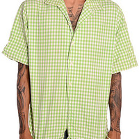 Polo Green Herringbone S/S