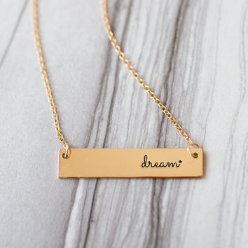 Dream Gold / Silver Bar Necklace
