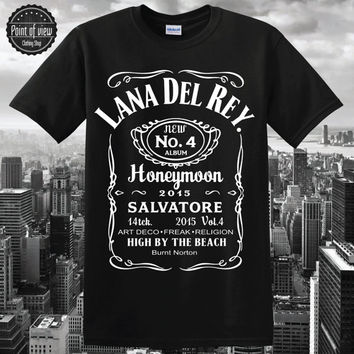 lana del rey shirt lana del rey honeymoon tshirt lana del rey shirt Lana Del Rey Parody Jack Daniels Women and Men Shirt, Black Shirt