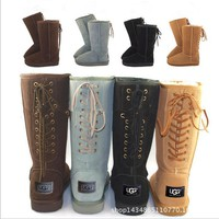 """""""UGG"""" Women Fashion Wool Snow Boots lace up boots (4-color)"""