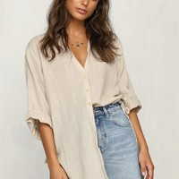 Fall to Pieces Shirt (Beige)