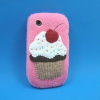 Cell Phone Snuggly Skin Cupcake in Pink by CasePhile on Etsy