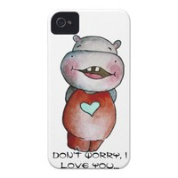 Funny Hippo iPhone 4 Cases from Zazzle.com